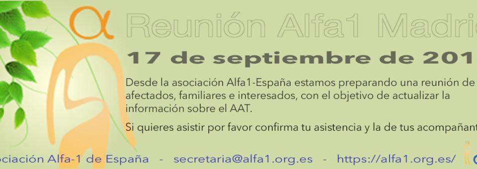 Programa de la Reunión en Madrid, de actualización para pacientes con Déficit AAT