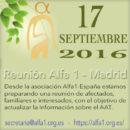 Encuentro en Madrid el 17 de Septiembre