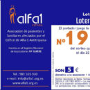 Lotería de Navidad de la Asociación Alfa 1 España